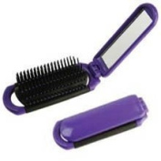 Pop Up Hair Brush With Mirror * Each
