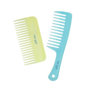 Plugged In Wet Look Shower and Wide Tooth Comb 2pc Set