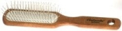 Hairbrushes - Wooden Handle with Pneumatic Brushes Wood Rectangle/Steel Pin 5115