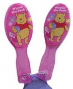 Disney Winnie the Pooh Hair Brush & Mirror Fashion Set - Pooh Compact Travel Size Hair Brush and Mirror