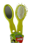 Nickelodeon Spongebob Hair Brush & Mirror Set for Children- 2 Pc Travel Size Brush and Mirror Set