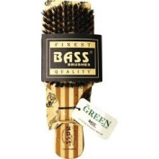 Bass Brushes Brush Classic Men's Club Style 100% Wild Boar Bristles Light Wood Handle