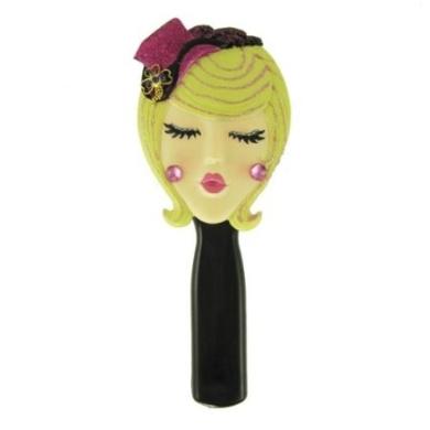 . Hairbrush Blonde with Hat Purple 22.2cm L