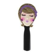 ". Hairbrush Brunette ""Kiss Me"" Purple 22.2cm L"
