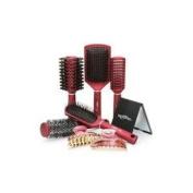 Royal Brush 5pc Maroon Colour Hairbrush Gift Set