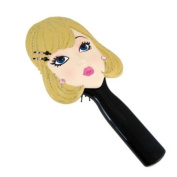 Classic Hairbrush Blonde with Bejewelled Barrett and Earrings