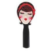 """. Hairbrush Brunette """"Kiss Me"""" Red 22.2cm L"""