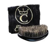 360 Gold Mixed Boar Bristle Caesar Brush - Onyx Black Medium