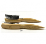 Kent LBC1 - Laser Etched Beechwood Backcombing or Teasing Brush with Boar Bristles and Nylon - Girl