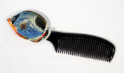 Handpainted Bluewave Tropical Fish Comb