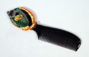 Handpainted Green Tropical Fish Comb