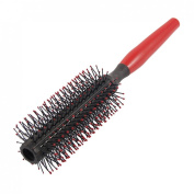 Rosallini Round Head Plastic Tooth Curly Hair Beauty Tool Roll Comb Red Black