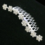 Crystal Daisies Wave Hair Comb