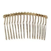 Metal Hair Comb Gold Plate (6) 25010