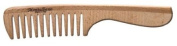 Wood Comb With Handle * Montalbano #1003-g * Made In Italy * 15.2cm Long