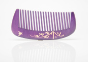 Tan's Natural Dyed Wooden Comb Purple 7-9