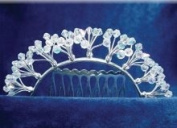 Antique Crystal Silver Hair Comb