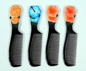 Wholesale Pack Handpainted Assorted Flower Lily Rose Comb