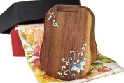 Tan's Hand Painted Mirror Gift Set Blue