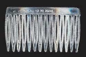 7cm Clear Acrylic Plastic Hair Comb - Package of 144