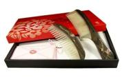 Tan's Combs Gift Set-Couple Rosewood and Horn Combs Joyous