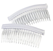 Darice VL3036 Long Fabric Edge Comb, White, 10.2cm by 5.1cm , 2 Per Pack