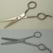12.7cm Professional Hair Styling Barber Scissors & 16.5cm Professional Barber Thinning Shears