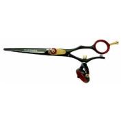 Kissaki Pro Hair Cutting Gokatana 15.2cm Black R Titanium Double Swivel Shears Scissors