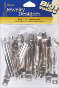 Darice Barrettes 80mm 12/Pkg-Nickel