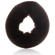 Hair Donut Large * 8.9cm Dia. X 2.5cm Thick - Brown