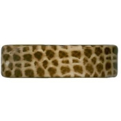 Karina - French Couture Giraffe Print Curved Barrette #K9308X1