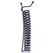 Medium Dark Brown ZannClip 7.9cm  - Made in the USA. An ingenious spiral hair clip for putting hair up and keeping it up!