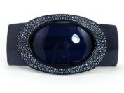 Circle Crystal Barrette - 10.5 cm