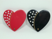 Charles J. Wahba - Heart Shaped Compact Mirror