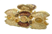 Amber Decorated Hair Claw With Epoxy & Stone