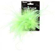 Ostrich Feather Hair Clip 1/Pkg-Lime