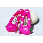 Decorative Hairclips - Pink