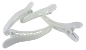 Plastic White Hair Clips Single Prong Alligator Teeth Barrette Bows Findings Pinch Beauty Salon Supplies