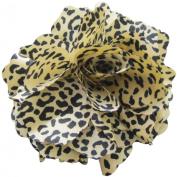 Fluerettes Animal Print Flower 1/Pkg-Cheetah-Beige, Black