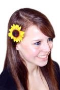 Small Sunflower Hair Flower Clip