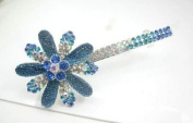 Beautiful Jewellery Blue Flowers Crystal Hair Clips - for hair clip Beauty Tools