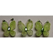 Gift Square 2.5cm Organza Butterfly Clip Wedding Favour 20 Pack - Moss Green