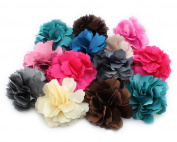 6 Woman Lady Girl Wedding Corsage Peony Flower Hair Clips Brooch Accessories