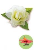 Hawaiian Hair Clip Silk Flower Gardenia White