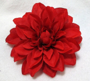 Medium Red Dahlia Hair Flower Clip