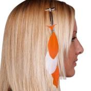 Texas Longhorns Official NCAA Feather Hair Clip by Little Earth 153830