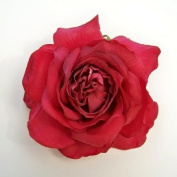 Open Dutchess Rose Artificial Flower Hair Clip/Pin Brooch, Beauty Colour