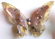 Golden 3D Jewelled Butterfly Clip
