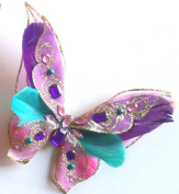 Purple 3D Jewelled Butterfly Clip