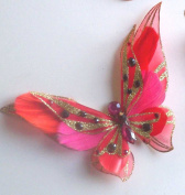 Red 3D Jewelled Butterfly Clip